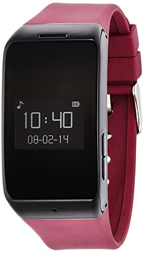 MYKRONOZ Smartwatch mit Activity und Schlaf-Tracker ZeWatch2, Bordeaux, KRZEWATCH2-BURGUNDY