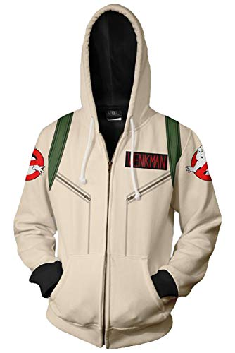 Unisex Venkman Ghostbusters Zip-Up Hoodie, S to XXL