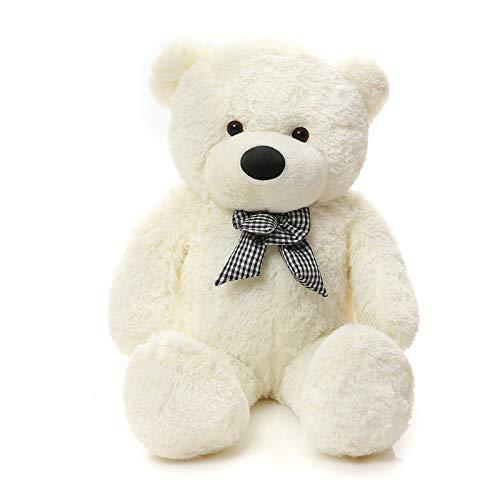 Angelove Teddybär Groß XXL Soft Riesen Teddy 160 cm Kuscheltier L Plüschtier Weiß Steiff Kuschelteddy für Kinder