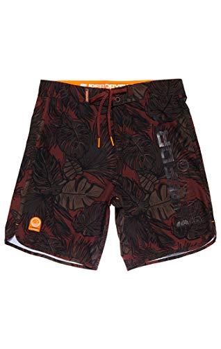 Superdry Herren Deep Water Boardshort Shorts, Mehrfarbig (Khaki Leafy Aop Q2n), Gr. 32 (Herstellergröße:M)