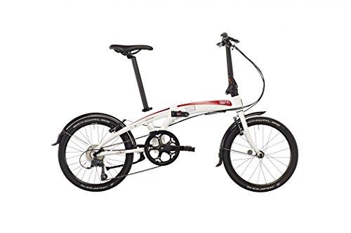 Tern Unisex Fahrrad Verge N8 Faltrad, Weiß Rot, 8 Gang, 20