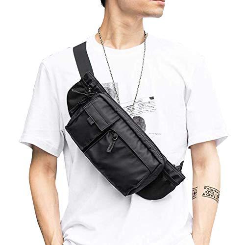 Large Waterproof Black Waist Bag Fanny Pack For Men Women Belt Bag Pouch Hip Bum Bag Chest Bag with...
