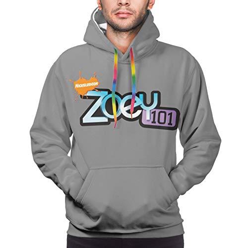 AAVTT Zo-E-Y 101 Logo Men's Hooded Hoodie Long Sleeve Pullover Sweatshirt Black