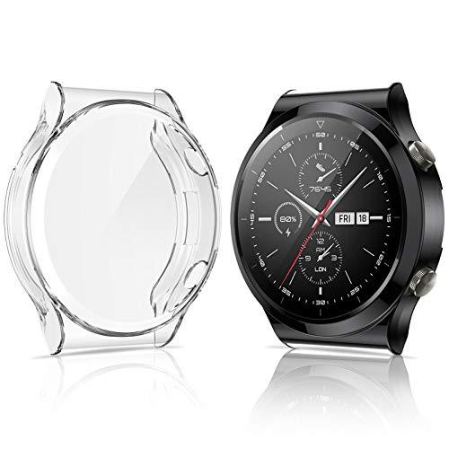 KIMILAR Funda Compatible con Huawei Watch GT 2 Pro Protector de Pantalla (No para Watch GT GT 2  GT 2e  GT Active), [2 Piezas] TPU Suave Cover Case Compatible con Huawei Watch GT2 Pro Smartwatch