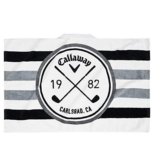 Callaway Golf 30X20 Tour Authentic Towel , White/Black/Charcoal