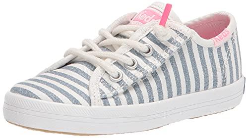 Keds Kids Girls Kickstart Seasonal Jr Sneaker, Stripe, 10.5 Little Kid