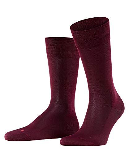 FALKE Herren Socken Sensitive Malaga - 96prozent Baumwolle, 1 Paar, Rot (Barolo 8596), Größe: 43-46