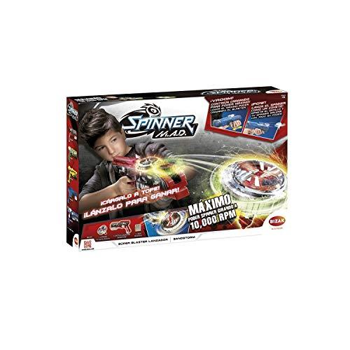 Bizak- Single Shot Blaster Spinner Mad Juguete, Multicolor (62006300)