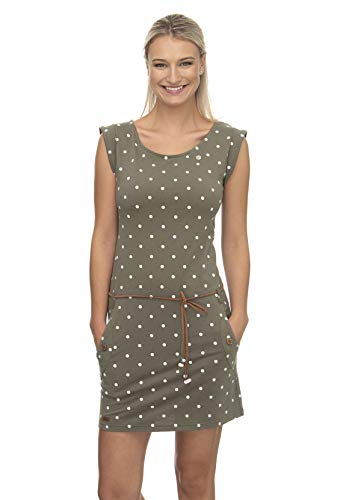 Ragwear Kleid Damen Tag DOTS 2011-20022 Grün Olive 5031, Größe:XL