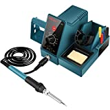AICase Soldering Iron Station, 60-Watt, 110 Volt, 392°F-896°F (C/F) Temperature Adjustable, 6 Seconds Rapid Heating Anti-Static Solder Iron Station with Solder Roll Holder/Screwdriver Holder