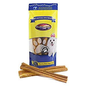 Shadow River Monster 12 Inch 100% Beef Bully Sticks for X-Large Dogs Extra Thick – Grass Fed Grain Free Long Lasting Chew Treats for Aggressive Power Chewers – Pack of 10 Sticks