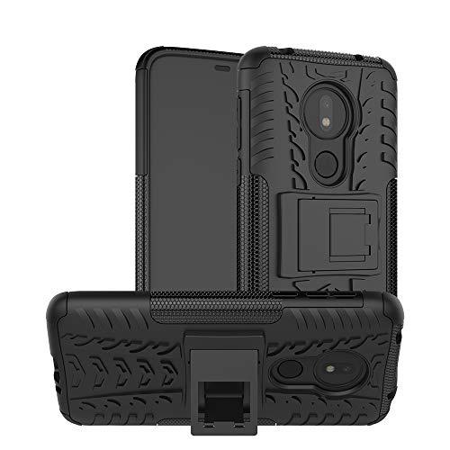 TiHen Cover Motorola Moto G7 Power,Custodia 360 Gradi + Pellicola Vetro temperato Alta qualità [2 Pezzi] Case Cover custodie Cellulare Stilosa Protettiva Bumper per Motorola Moto G7 Power- Nero