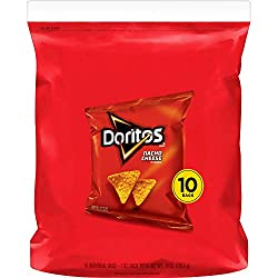 Doritos Tortilla Chips, Nacho Cheese, 1oz Bags (10 Pack)