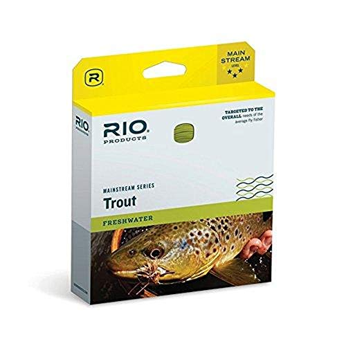 RIO Products Fly Line Mainstream Type 3 12' Sinking Tip Wf5F/S3 Brown/Lemon Green, Brown-Lemon-Green