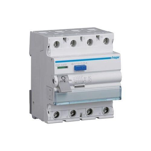HAGER CDC440D FI-Schutzschalter 4P 40A 30mA AC