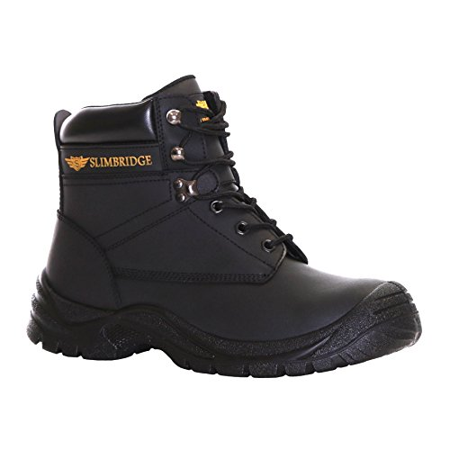 Slimbridge Velbert Stivali di Sicurezza Punta in Acciaio Taglia 46, Nero