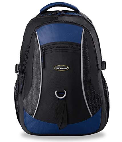 Bag Street Rucksack Sporttasche Freizeittasche Schultasche Arbeitstasche schwarz blau