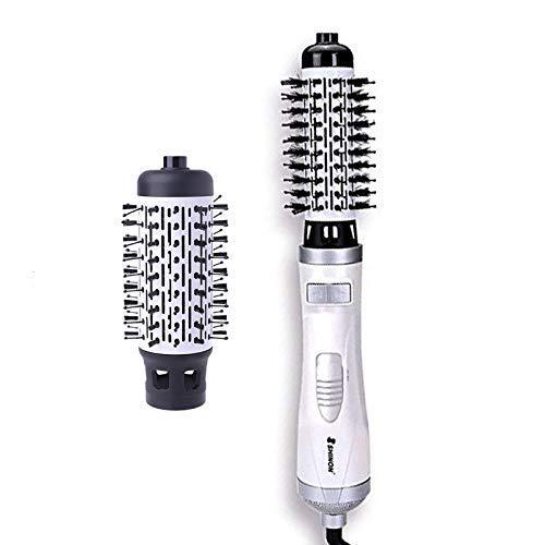 CANDYANA Warme luchtborstel Multifunctionele 2-in-1 anion haardroger haarstylingkam voor droog haar, krullen en haarstyling