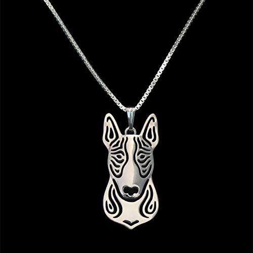 Collane per cani da compagnia in lega da donna Collana di pendenti Bull Terrier d'oro per gli amanti