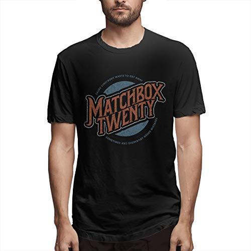 Matchbox Twenty Logo Shirt Mens Short Sleeve T-Shirt Cotton Printed Round Neck Funny T-Shirts Black
