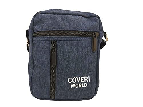Coveri Borsello da Uomo Donna WORLD Tracolla Spalla Borsa porta oggetti chiavi telefono Colore Blu