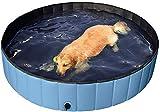 Plegable Bañera De Gatos Piscinas Infantiles,Plegable Piscina para Perros Bañera De Baño,Al Aire Libre Piscina Portátil para Ducha, Mascota Piscina para Perros Grandes Azul Diámetro80cm(31inch)