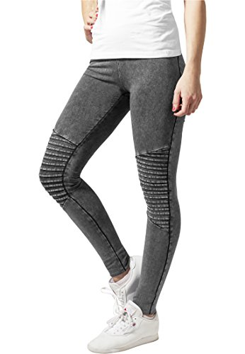 Urban Classics Damen Ladies Denim Jersey Leggings Hose, Darkgrey, L