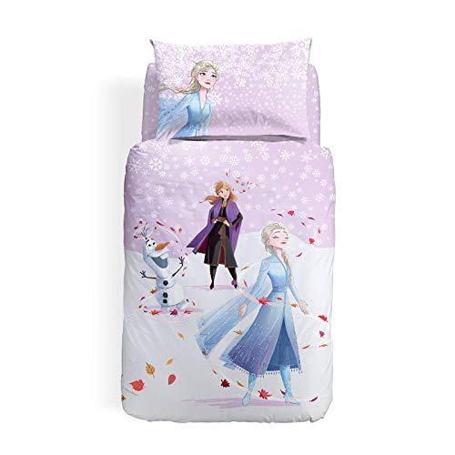 Caleffi Frozen Magica Completo Copripiumino, Cotone , Unica, Singolo, 1001355 , Disney