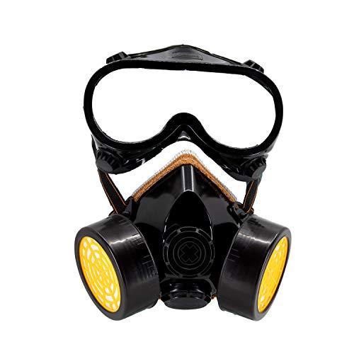 TRIXES 1 x Gafas de Disfraces y 1 x Máscara de Disfraces - Accesorio de Disfraces para el Trabajador de la Construcción Científico Industrial Traje de Cosplay de Halloween de Carnival - Tamaño Adulto