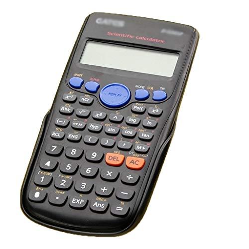 GUI Calculadoras Calculadora básica de la calculadora Digital 240 Funciones Estadísticas Matemáticas 2Line de visualización de la Escuela de Estudiante de Grado (Color : Black)