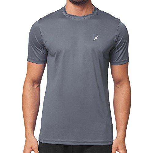 CFLEX Herren Sport Shirt Fitness T-Shirt Sportswear Collection - Grau L