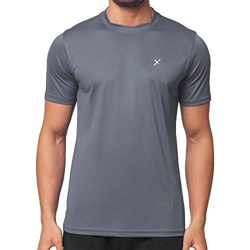 CFLEX Herren Sport Shirt Fitness T-Shirt Sportswear Collection - Grau XL