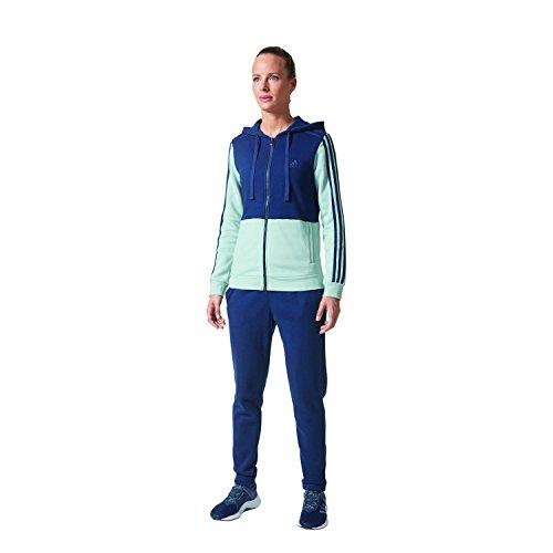 adidas Co Energize TS, Tuta Donna, Blu (Blu/Verde), S