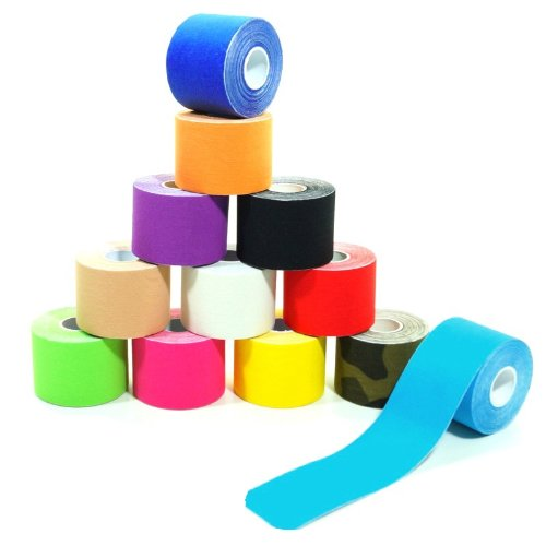 starlabels 1 Rolle Kinesiologie Tape 5 m x 5,0 cm in 12 Farben, Farbe:dunkelblau
