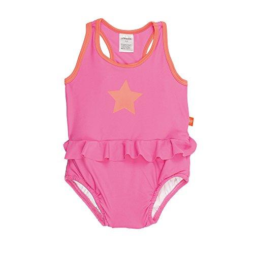 LÄSSIG Baby Kinder Badeanzug Bademode Schwimmbekleidung Schwimmanzug integrierte Schwimmwindel waschbar einteilig Mädchen UV-Schutz/Splash und Fun Tanksuit, 12 Monate, rosa