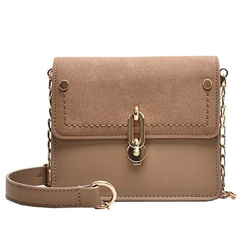 TAMALLU Frauen Einfache Umhängetasche Gurt Reißverschluss Reisegesellschaft Hochzeit Handtasche(Khaki)