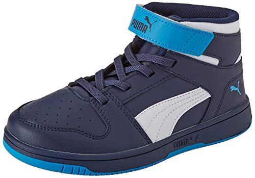 Puma Unisex-Kinder Rebound Layup Sl V Ps Sneaker, Peacoat White Dresden Blue, 28 EU