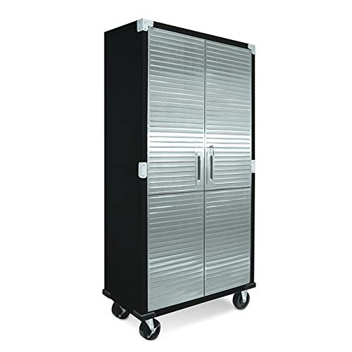 Seville Classics Home Office Cabinet Storage, 36' W x 18' D, Satin Graphite