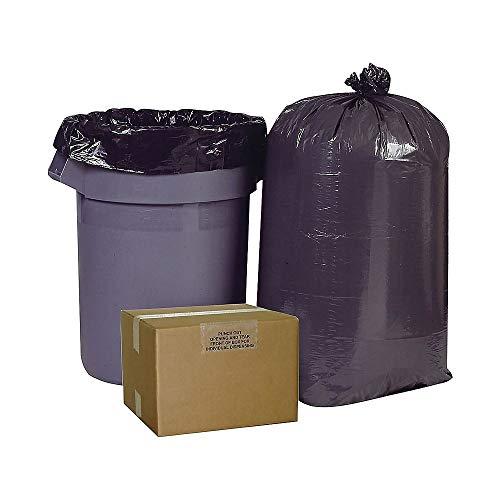 Brighton Professional High Density Super Heavy Strength Trash Bags, Black, 60 Gallon, 150 Bags/Box