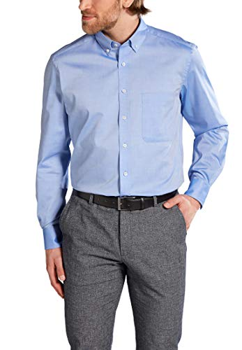 eterna Mode GmbH Herren Loose Fit Business Hemd E194, Hellblau, W40 Langarm