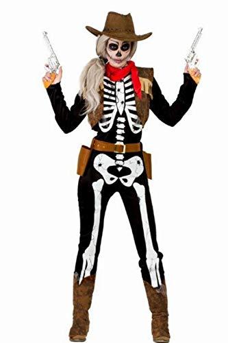 Disfraz Esqueleto Cowboy S