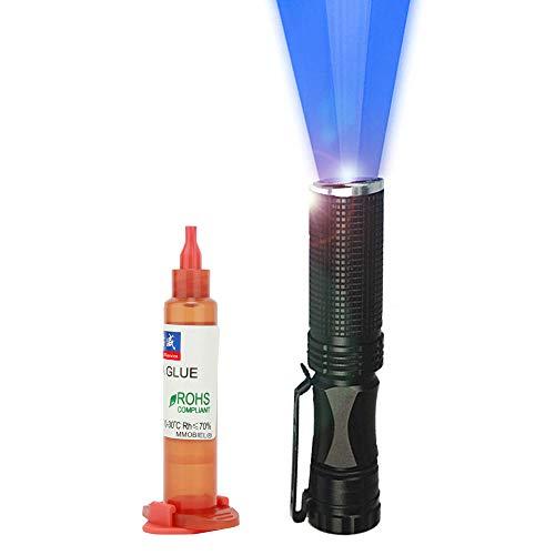 MMOBIEL Liquid Optical Clear Adhesive (LOCA) Transparenter Kleber 5ml mit UV-Taschenlampe für Smartphone Reparaturen