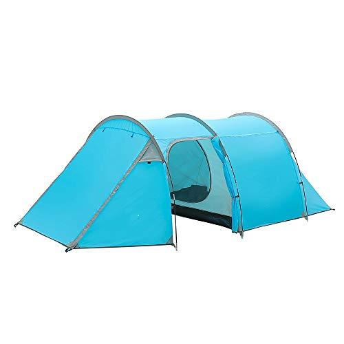 ZHJLOP Tente Tente de Camping Étanche 3-4 Personnes Tente Tunnel à Double Couche Camping en Plein air Randonnée pédestre Escalade Ultra-Léger Grand Espace