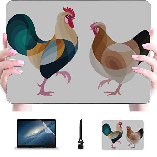 Macbook Pro 15 Pulgadas Estuche Estilizado Pollos Sulmtaler Carcasa rígida de plástico Compatible Mac Air 13'Pro 13' / 16'Estuche para computadora portátil Macbook Pro Cubierta Protectora para Macb