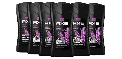 Axe Excite 3in1 Duschgel Herren 6er Pack, 12h Schutz vor Körpergeruch Body Face Hair auf Pflanzenbasis (6 x 250 ml)
