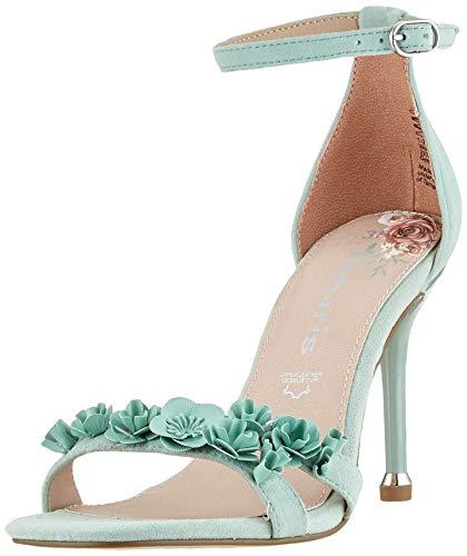 Tamaris Women's Ankle Strap Sandals, Green Mint 760, 8