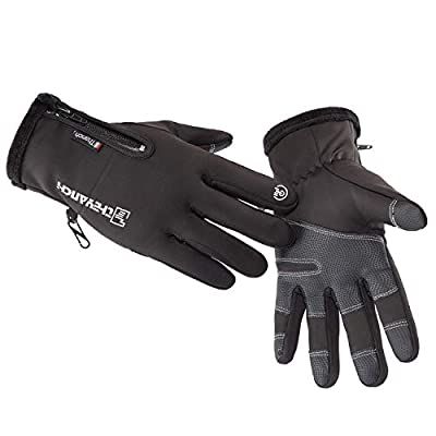 Winter Warm Gloves,Touchscreen Cold Weather Driving Gloves Windproof Anti-Slip Sports Gloves for Cycling Running Skiing Hiking Climbing,Men ? Women
