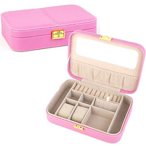 ZYC 1 caja de almacenamiento para pendientes, caja organizadora, práctica caja de exhibición, color rosa