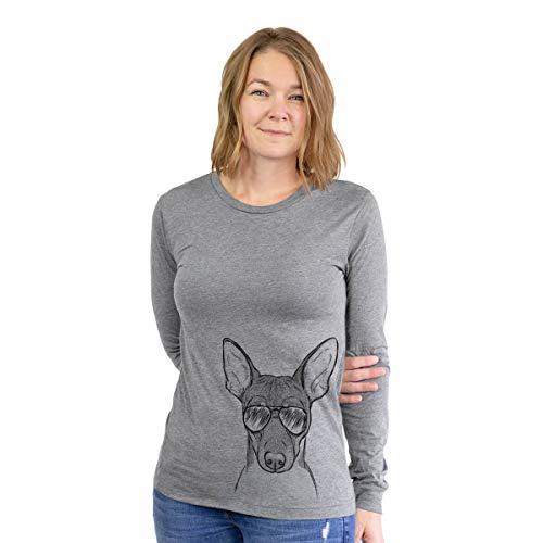 Aviator Knox The Rat Terrier Women's Long Sleeve T-Shirt Medium Grey
