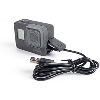 90 cm cargador de datos USB y Cable de Alimentación Blanco Plomo para Cámara Gopro Hero 4 Negro